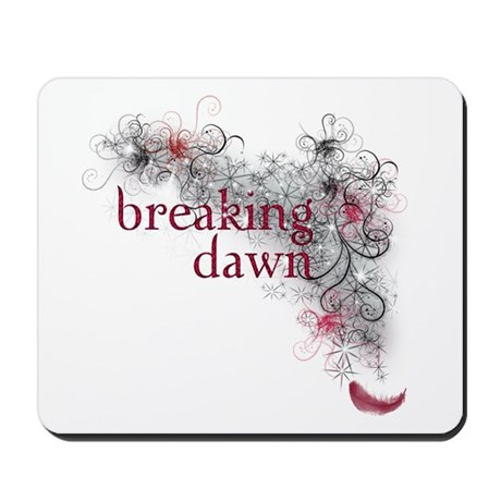 Breaking Dawn feather Mousepad