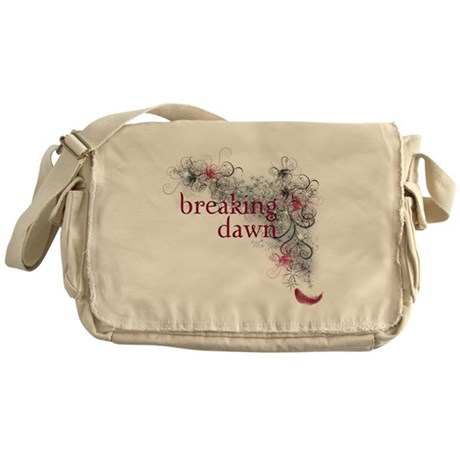 Breaking Dawn feather Messenger Bag