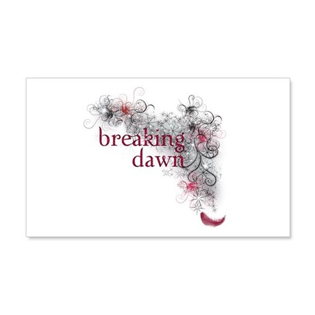 Breaking Dawn feather 20x12 Wall Decal