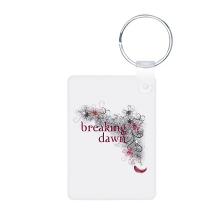 Breaking Dawn feather Aluminum Photo Keychain