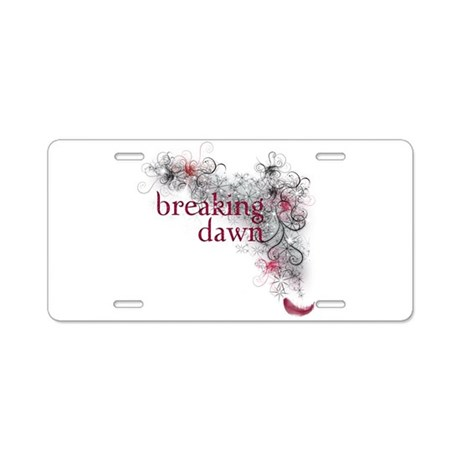 Breaking Dawn feather Aluminum License Plate
