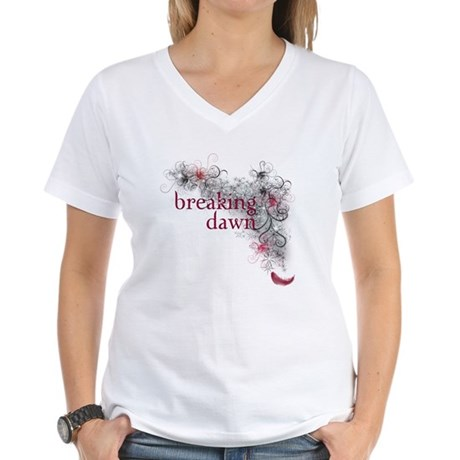 Breaking Dawn feather Women's V-Neck T-Shirt