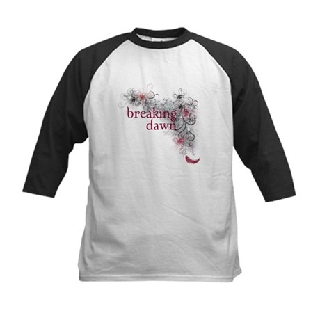 Breaking Dawn feather Kids Baseball Jersey