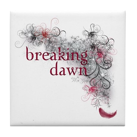 Breaking Dawn feather Tile Coaster