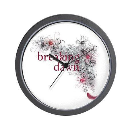 Breaking Dawn feather Wall Clock