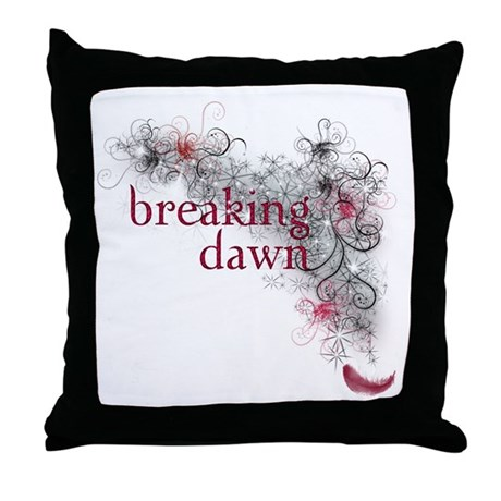 Breaking Dawn feather Throw Pillow