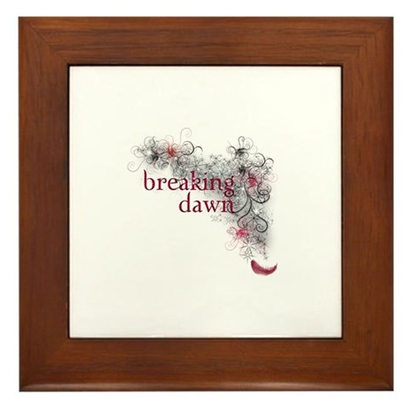 Breaking Dawn feather Framed Tile
