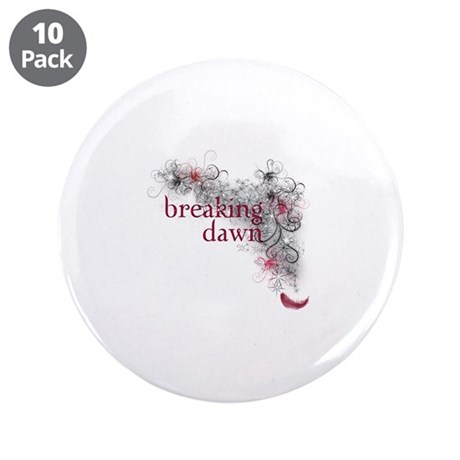 "Breaking Dawn feather 3.5"" Button (10 pack)"