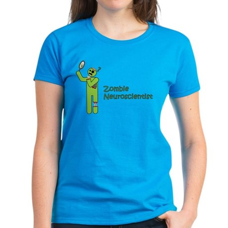 Zombie Neuroscientist Women's Dark T-Shirt