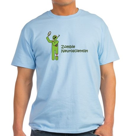 Zombie Neuroscientist Light T-Shirt