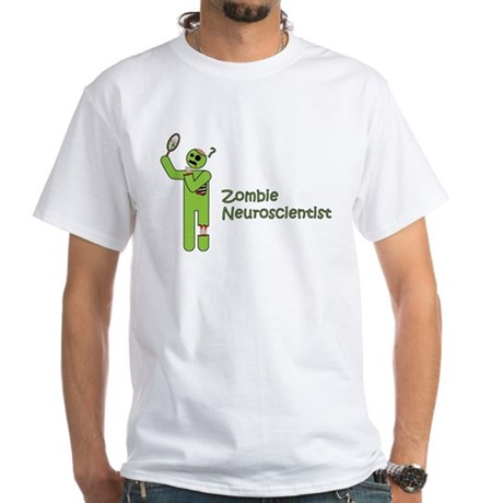 Zombie Neuroscientist White T-Shirt