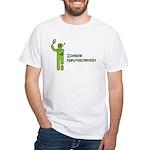 Zombie Neuroscientist White T-Shirt