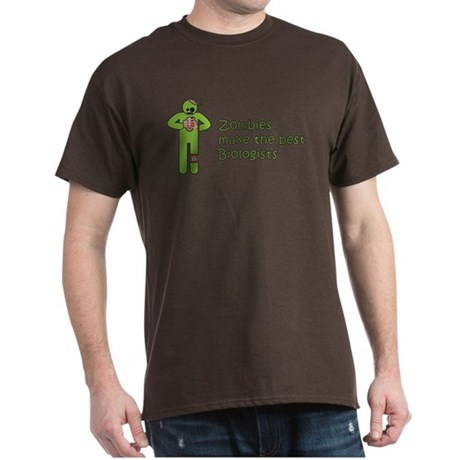 Zombies Make the Best Biologists Dark T-Shirt