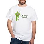 Zombie Biologist White T-Shirt