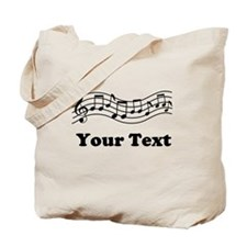 Music Staff Personalized Tote Bag