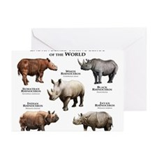 Rhinos of the World Greeting Cards (Pk of 10)