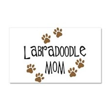 Labradoodle Mom Car Magnet 20 x 12