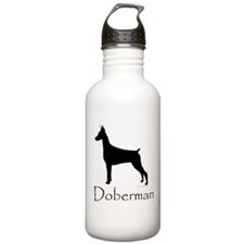 Doberman Silhouette Water Bottle