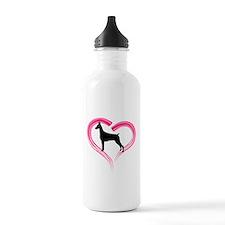 Heart My Doberman Water Bottle