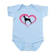 Heart My Doberman Infant Bodysuit