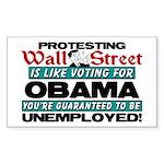 """Protesting Wall Street"" Sticker (Rectan"