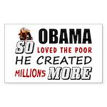 """Millions More Poor"" Sticker (Rectan"