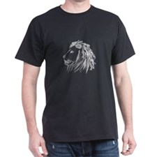Smoking Lion White T-Shirt