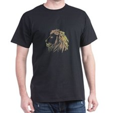 Smoking Lion with Color T-Shirt