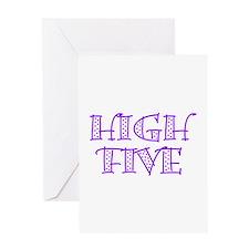 HighFive_Purple Greeting Card