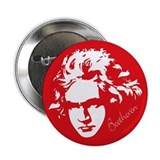 Beethoven Music Silhouette Button