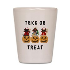 Halloween Trick or Treat Pugs Shot Glass