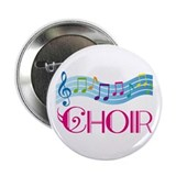 Colorful Music Choir Button