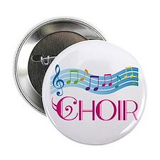 Colorful Music Choir Button