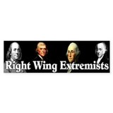 &amp;quot;Right Wing Extremists&amp;quot; Car Sticker