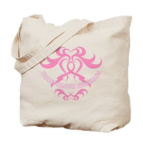 Tribal Breast Cancer Awareness Tote Bag