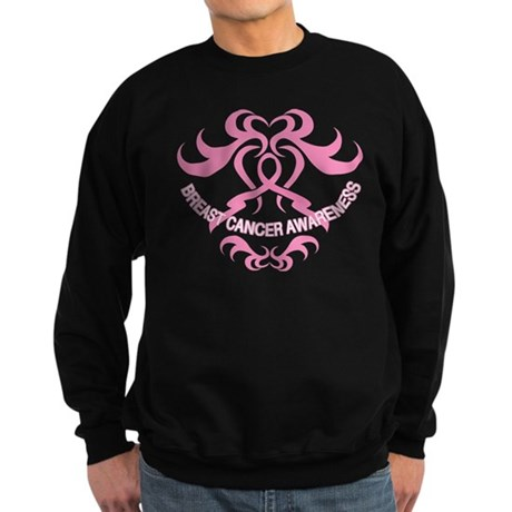 Tribal Breast Cancer Awareness Sweatshirt (dark)