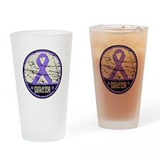 Hodgkins Disease Survivor Drinking Glass