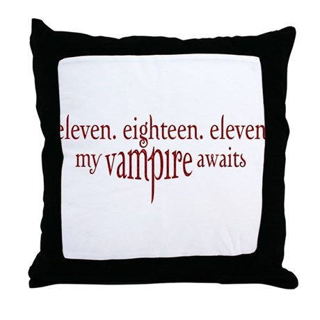 11.18.11 Vampire Awaits Throw Pillow
