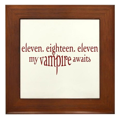11.18.11 Vampire Awaits Framed Tile