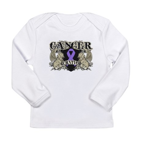 Hodgkins Cancer Survivor Long Sleeve Infant T-Shir