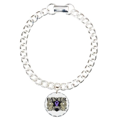 Hodgkins Cancer Survivor Charm Bracelet, One Charm