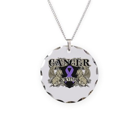 Hodgkins Cancer Survivor Necklace Circle Charm
