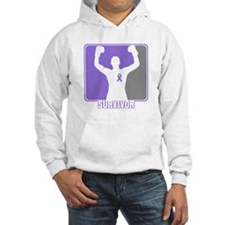 Male Hodgkin Disease Survivor Hoodie
