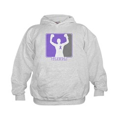 Male Hodgkin Disease Survivor Kids Hoodie