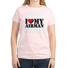 Love My Airman Women's Pink T-Shirt