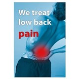 We treat back pain