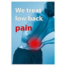 We treat back pain