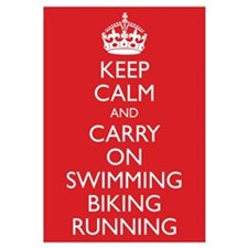 Funny Run bike swim Wall Art