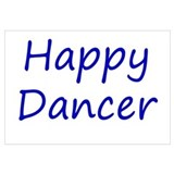 Happy Dancer blue script