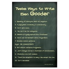 How to Write Even Gooder 11x17 , Chalkboard